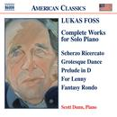 Lukas Foss: Complete works for Solo Piano thumbnail